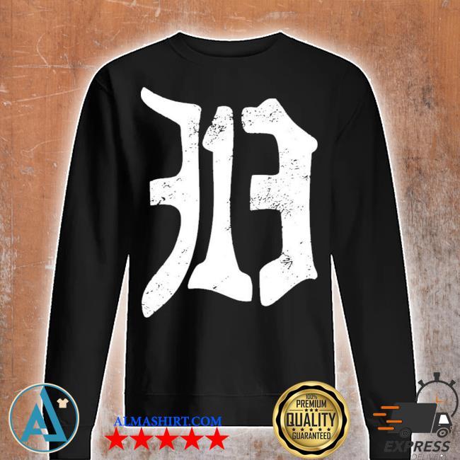 Detroit 313 vintage old english d area code new 2021 s Unisex sweatshirt