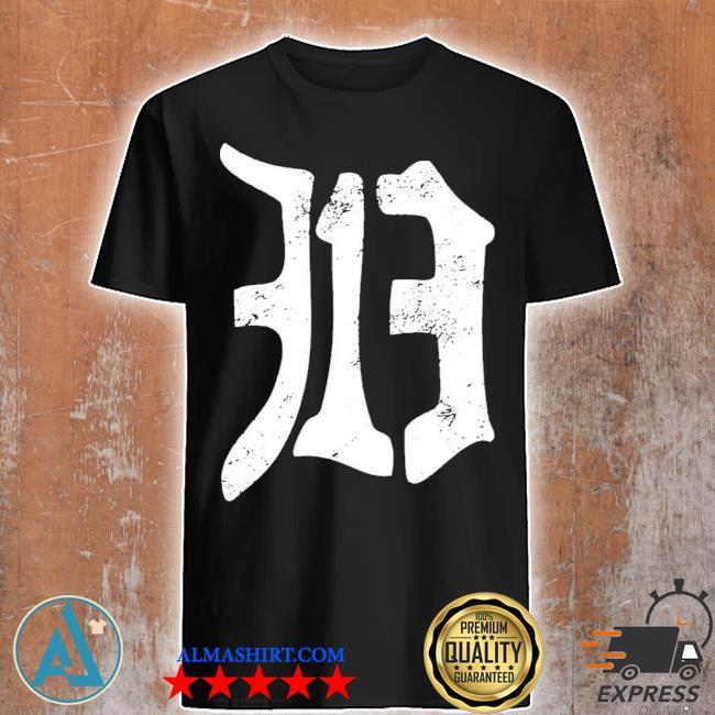 Detroit 313 vintage old english d area code new 2021 shirt