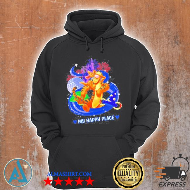 Disney tigger my happy place s Unisex Hoodie