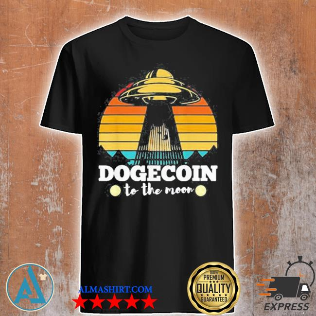 Dogecoin to the moon vintage crypto btc shirt