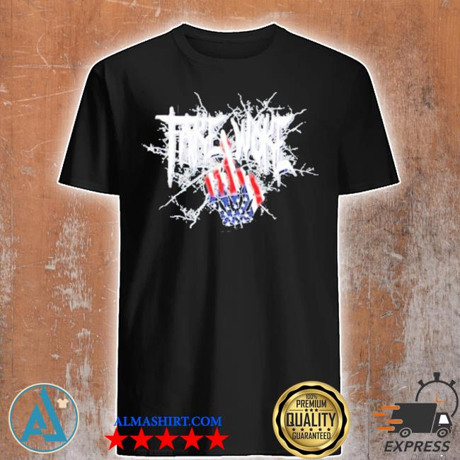 Fake woke champion American flag shirt