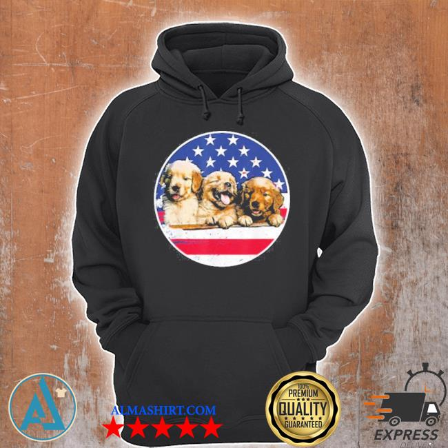 Golden retriever American flag 4th of july s Unisex Hoodie