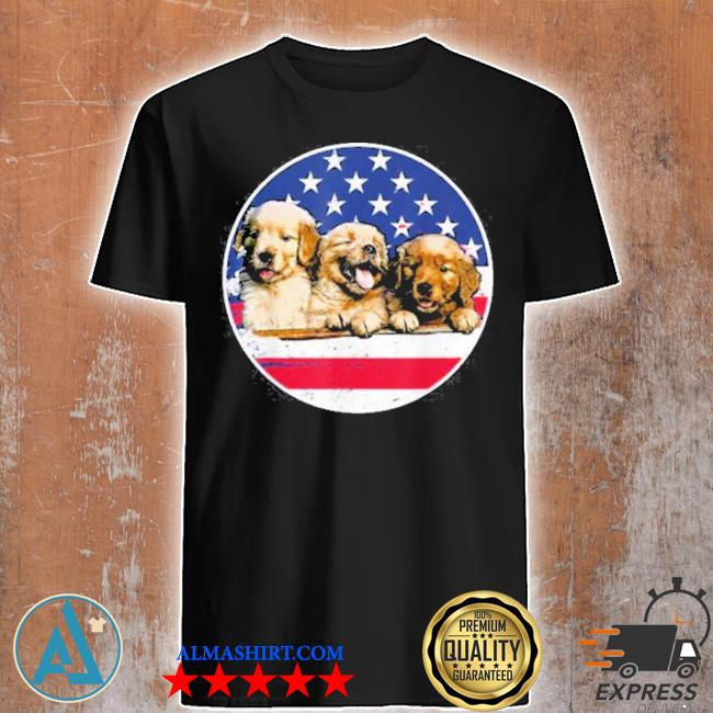 Golden retriever American flag 4th of july shirt