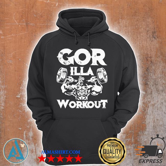 Gorilla workout gym s Unisex Hoodie