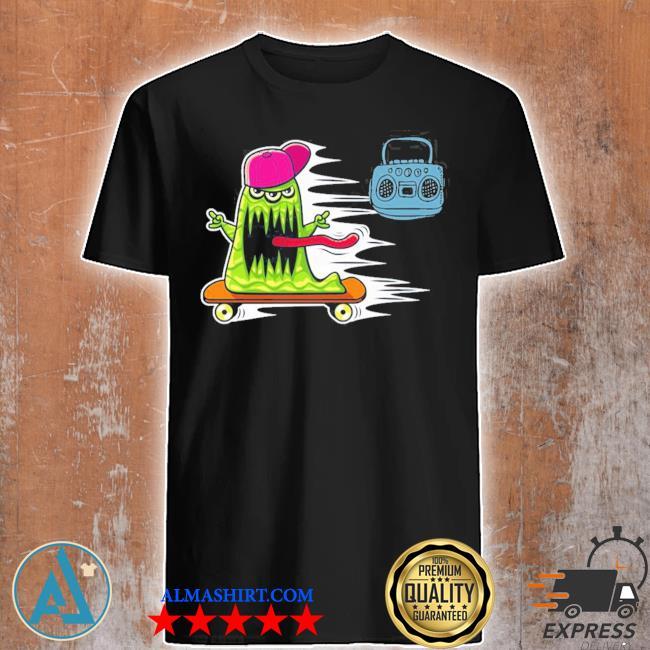 GraffitI monster skateboarding monster radio jamming new 2021 shirt