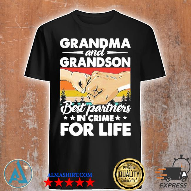Grandma and grandson best partners in crime for life vintage new 2021 shirt