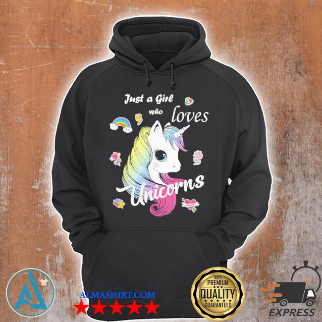 Just a girl who loves unicorns cute unicorn art new 2021 s Unisex Hoodie