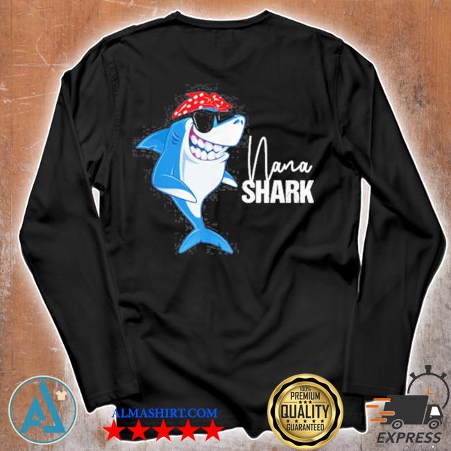 Nana shark wearing sunglasses bandana grandma s Unisex longsleeve