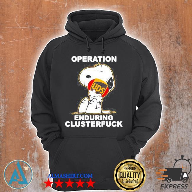 Operation enduring clusterfuck Snoopy hug logo s Unisex Hoodie