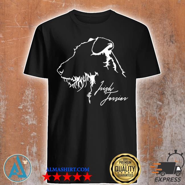 Proud irish Terrier dog breed profile dog lover new 2021 shirt