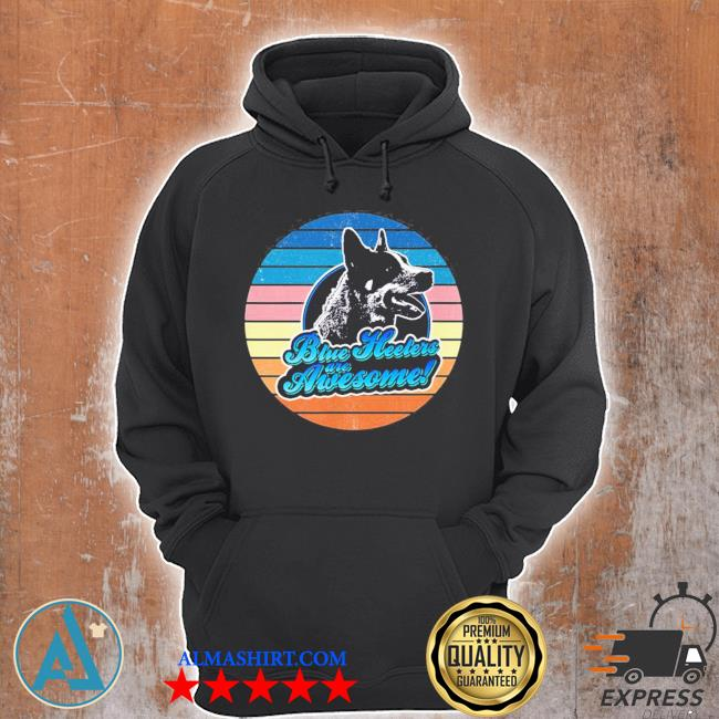 Retro Heeler Australian cattle dog 60s 70s new 2021 s Unisex Hoodie