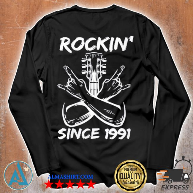 Rockin' since 1991 30th birthday guitar 30 years old s Unisex longsleeve