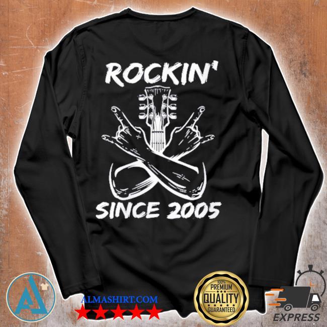 Rockin' since 2005 16th birthday guitar 16 years old s Unisex longsleeve