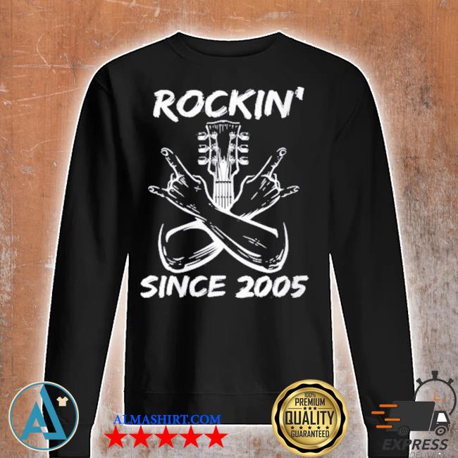 Rockin' since 2005 16th birthday guitar 16 years old s Unisex sweatshirt