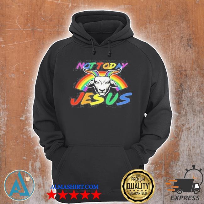 Satan baphomet LGBT not today Jesus s Unisex Hoodie