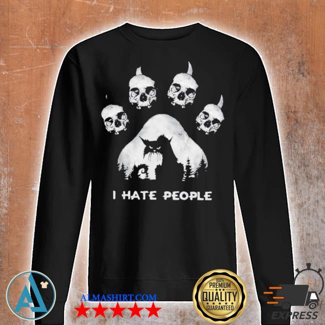 Skull I hate people s Unisex sweatshirt
