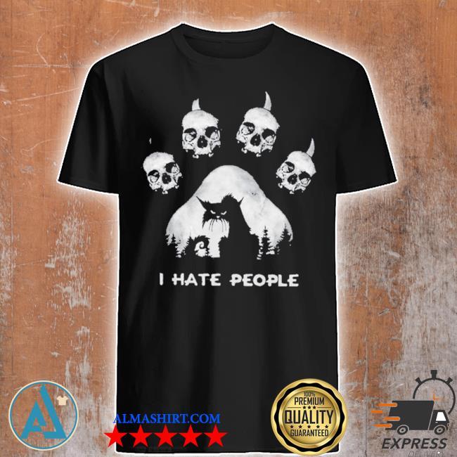 Skull I hate people shirt