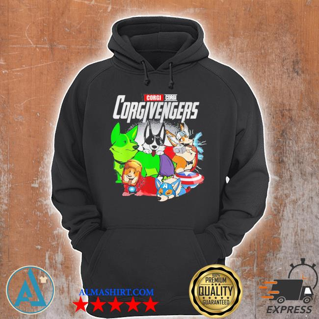 Super dogs corgi avengers assemble for kids and dogs lover new 2021 s Unisex Hoodie