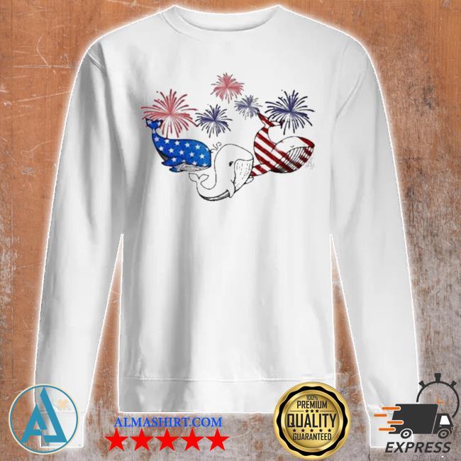 Whale flag colors whale lovers s Unisex sweatshirt