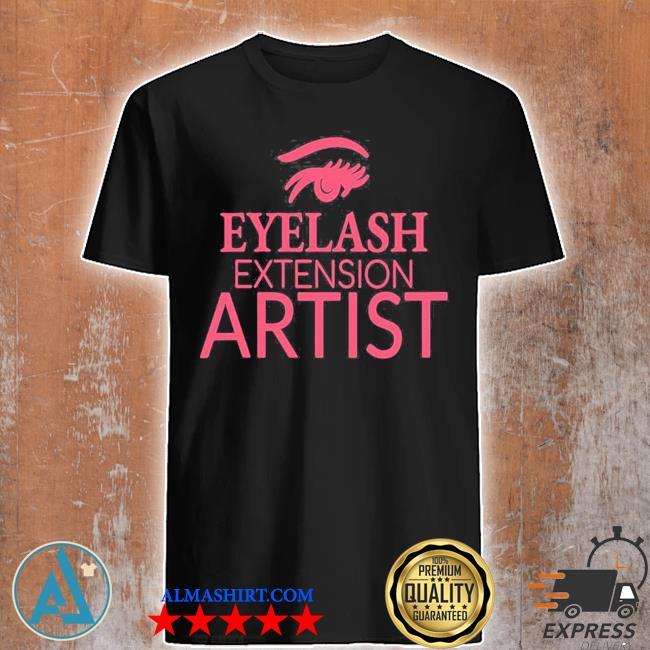 Womens eyelash extension artist shirt