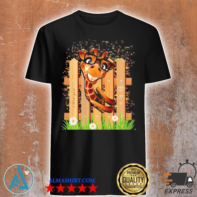 Womens summer giraffe printed funny cute animal graphic tops shirt
