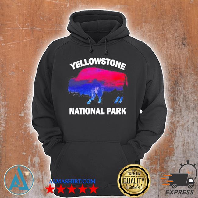 Yellowstone national park bison souvenir vintage s Unisex Hoodie