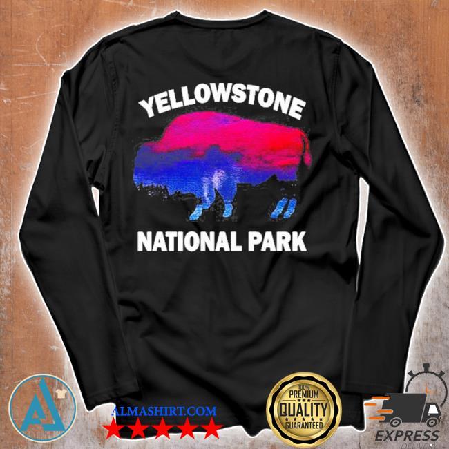 Yellowstone national park bison souvenir vintage s Unisex longsleeve