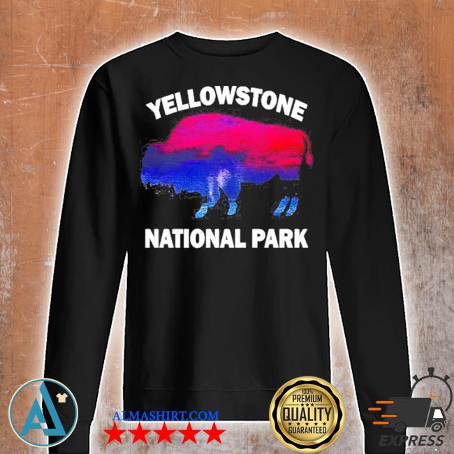 Yellowstone national park bison souvenir vintage s Unisex sweatshirt