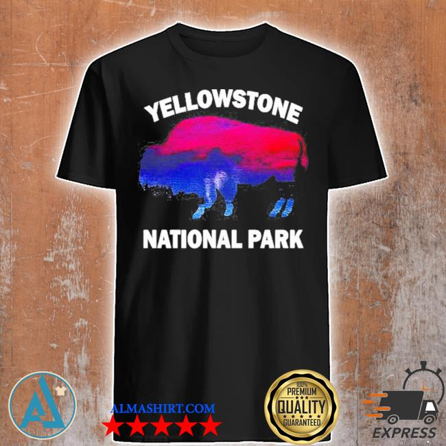 Yellowstone national park bison souvenir vintage shirt