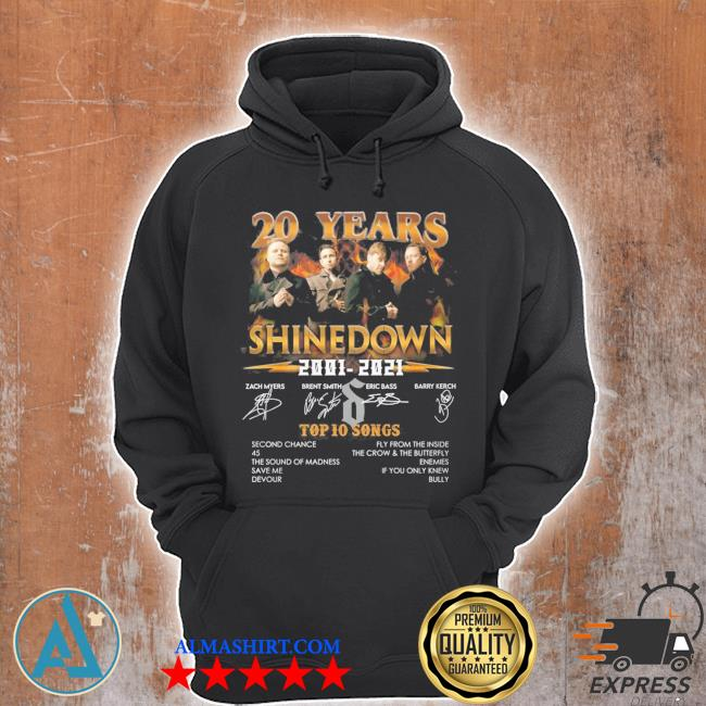 20 years shinedown 2001 2021 zack myers and brent smith eric bass and barry kerch s Unisex Hoodie
