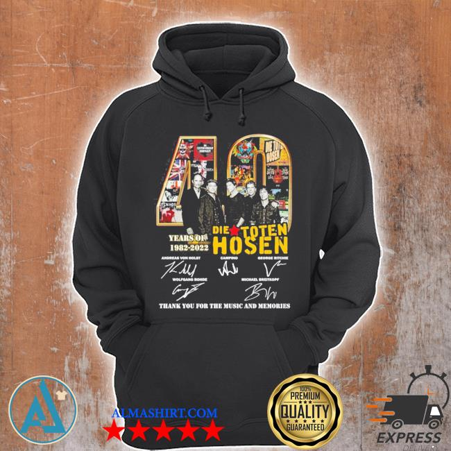 40 die toten hosen years of 1982 2022 thank you for the music and memories s Unisex Hoodie