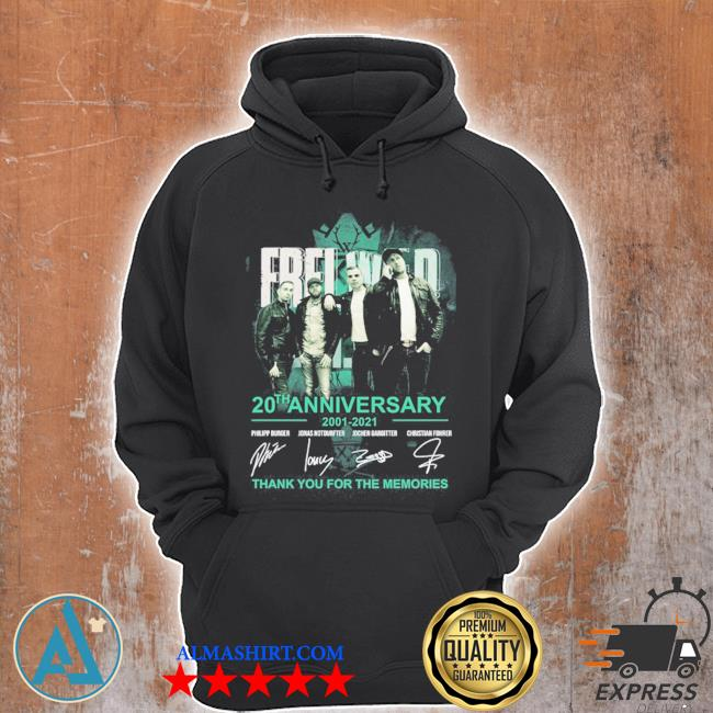 Frei wild 20th anniversary 2001 2021 thank you for the memories s Unisex Hoodie