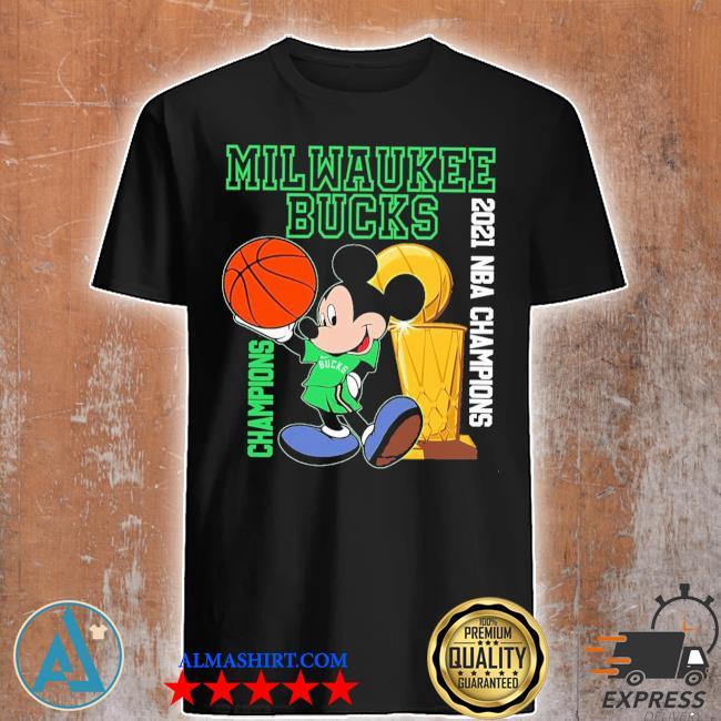 Premium 2021 NBA Champions Milwaukee Bucks Disney Shirt ...