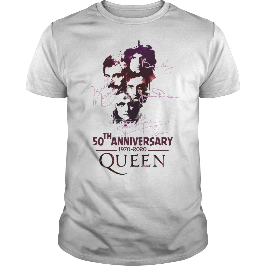 50th anniversary 1970 2020 signatures Queen shirt