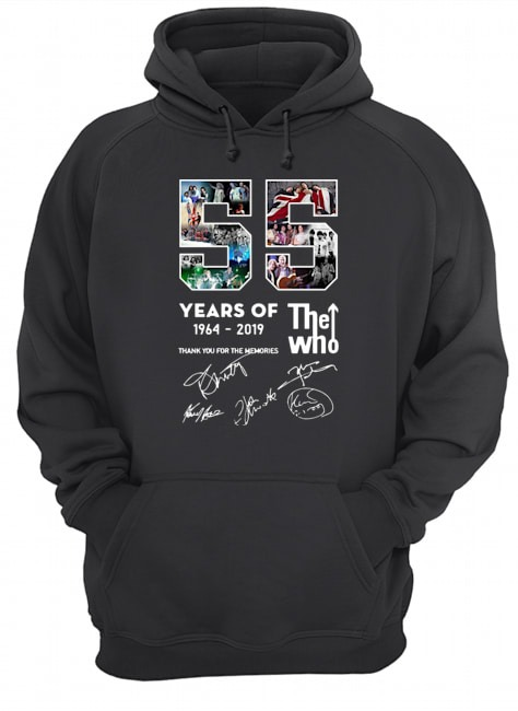 55 years of The Who 1964 2019 thank you for the memories signatures Hoodie