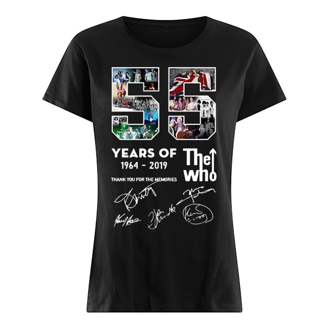 55 years of The Who 1964 2019 thank you for the memories signatures Ladies shirt