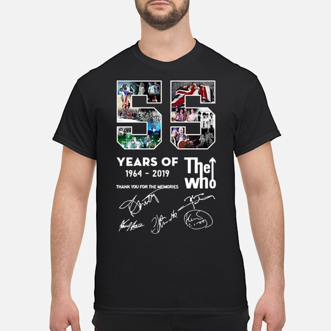 55 years of The Who 1964 2019 thank you for the memories signatures shirt