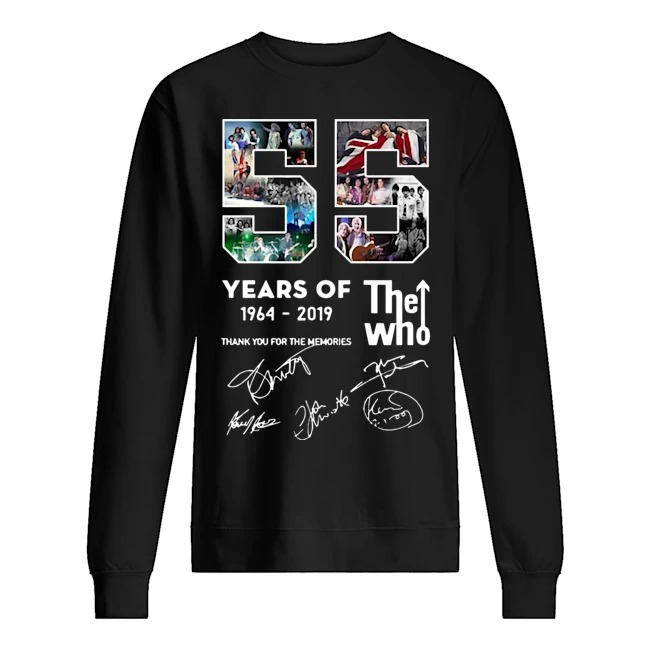 55 years of The Who 1964 2019 thank you for the memories signatures Sweater