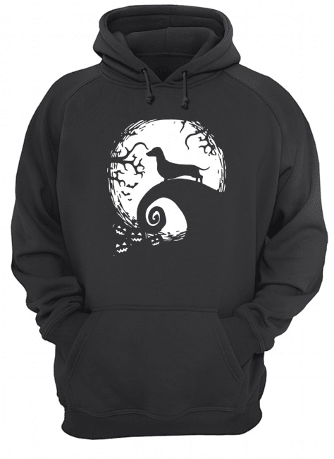 Dachshund nightmare before Christmas Hoodie