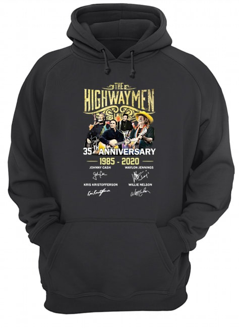 The Highwaymen 35th anniversary 1985 2020 signatures Hoodie