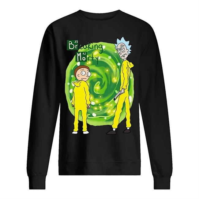 Rick and Morty Breaking Morty Sweater