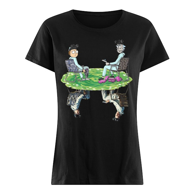 Rick and Morty Crossover Walter and Jesse Breaking Bad Ladies shirt