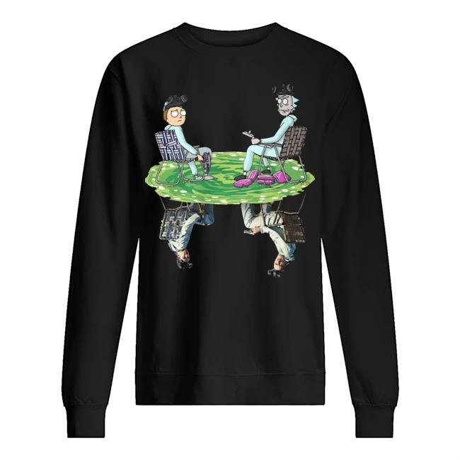 Rick and Morty Crossover Walter and Jesse Breaking Bad Sweater