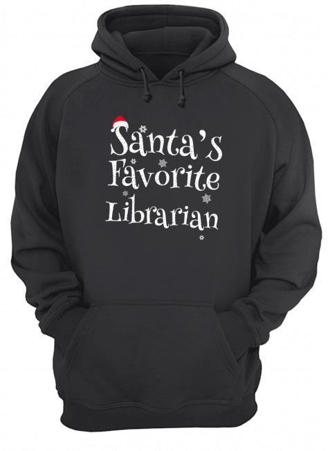 Santa's Favorite Librarian Christmas Hoodie