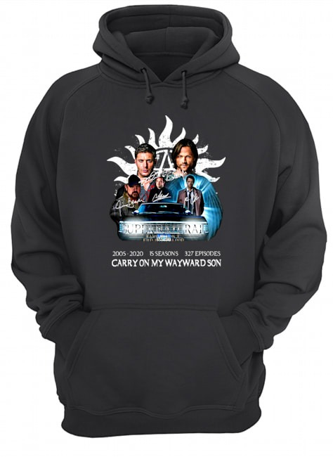 Supernatural family don't end with blood carry on my wayward son Hoodie