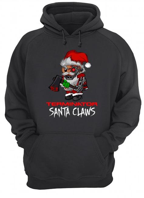 Terminator Santa Claws Hoodie