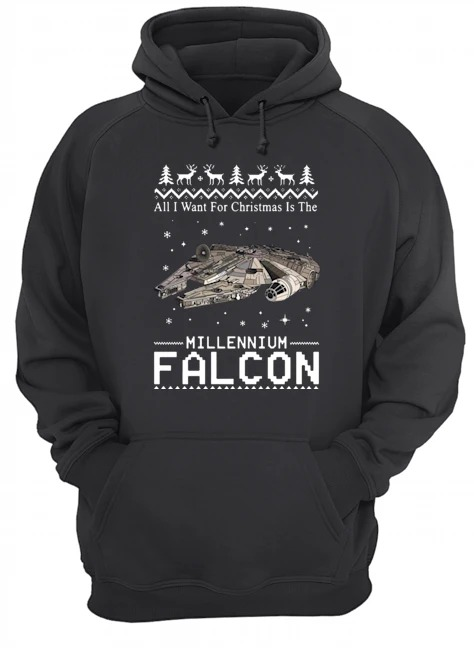 All I want for Christmas is the Millennium Falcon Hoodie