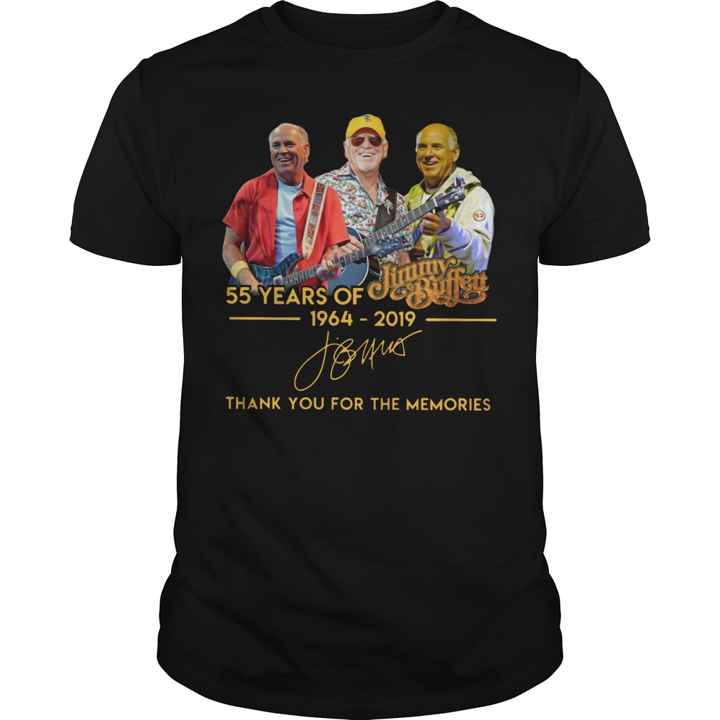 55 years of Jimmy Buffett 1964 2019 signature shirt