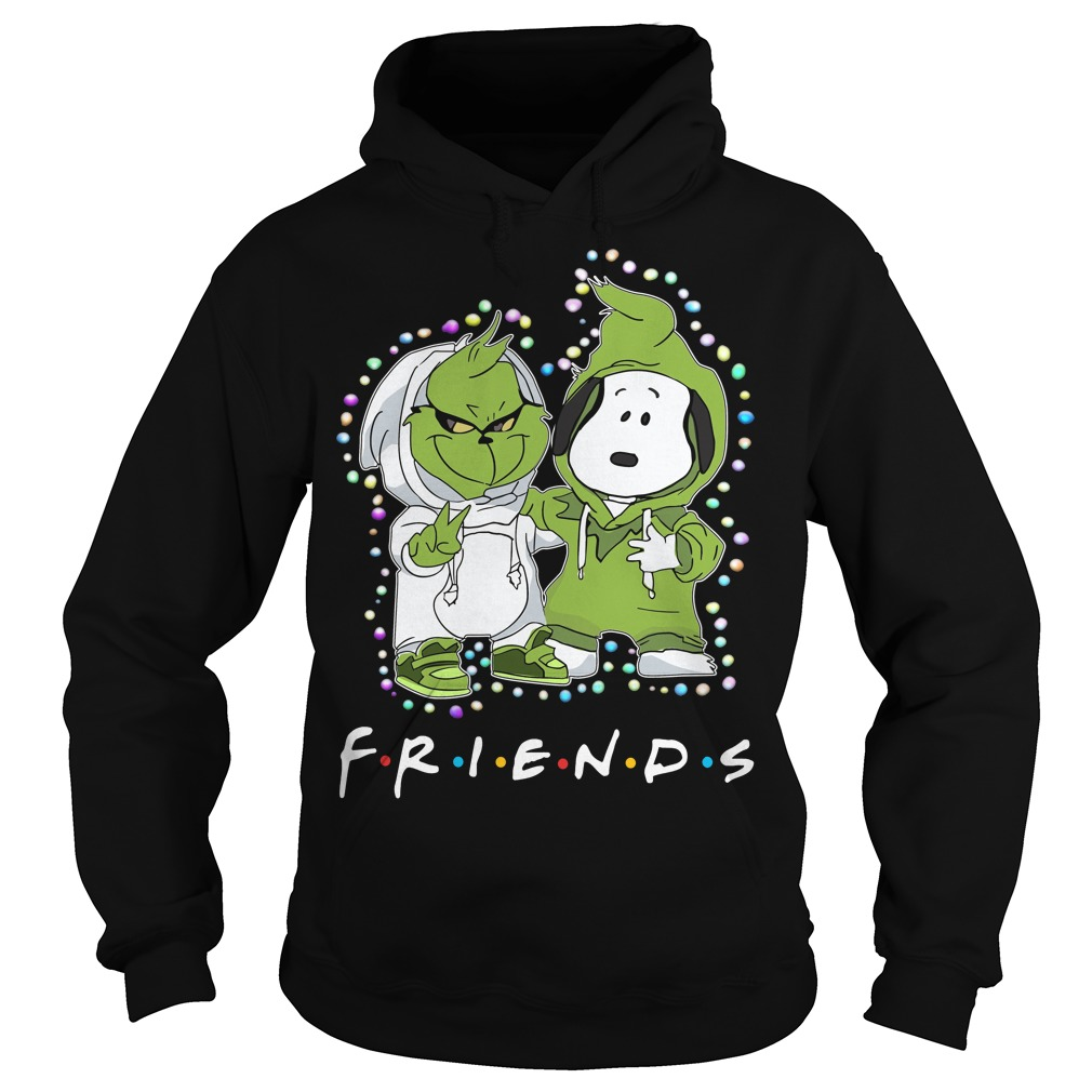 Baby Grinch and Snoopy Friends light Christmas Hoodie