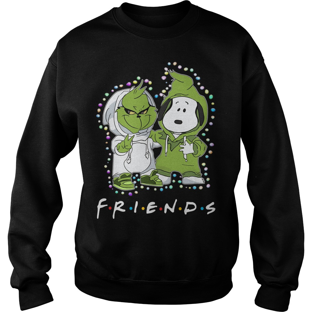 Baby Grinch and Snoopy Friends light Christmas Sweater